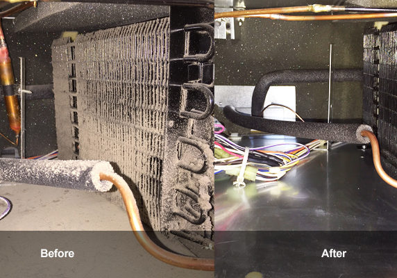 refrigerator repairs and coil cleaning